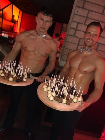 candy boys bij ladies diner in Anno Almere