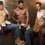 Mannen strip groep The Sugar Boys