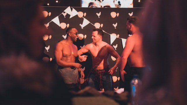 Backstage fun